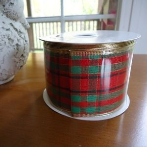 """Other - Ribbon Christmas Red Plaid 2.5"""" x 20 Yards NEW"""